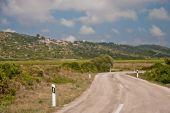 Road in the valley - Vis Island - Croatia — Stock Photo