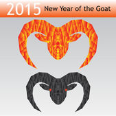New Year of the goat2 — Stock Vector