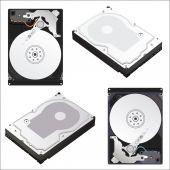 Hard drives — Wektor stockowy