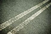 Double line on road — Stock Photo