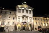 Historic center of Ljubljana at night — Stock Photo