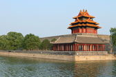 Forbidden city palace and river, Beijing — Stock Photo