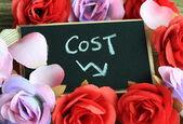 Decreasing cost concept — Stock Photo