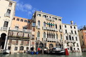 Venetian architecture at grand canal — Stock Photo
