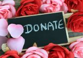 Message of donation — Stock Photo