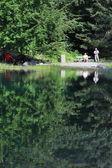 Lake Vert of Mont Blanc, France — Stock Photo