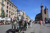 Krakow market square, Poland — Stock Photo
