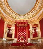трон короля польского в варшаве дворце — Стоковое фото