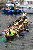 Chinese Dragon Boat Race at Chai Wan, Hong Kong — Stok fotoğraf