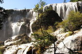 Waterfall of Huanglong national park in China — Stock Photo
