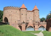 Barbican city wall of Warsaw old town — Stock Photo