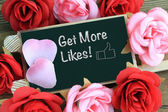 Get more likes message — Stock Photo