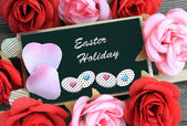 Easter holiday message — Stock Photo