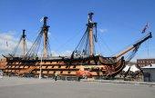 Portsmouth historical dockyard — Stock Photo