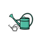 Watering can 1 — Stock Vector