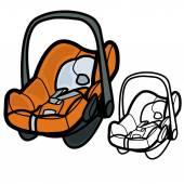 Baby Car Seat — Stock Vector