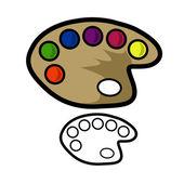 Painters Palette — Stock Vector