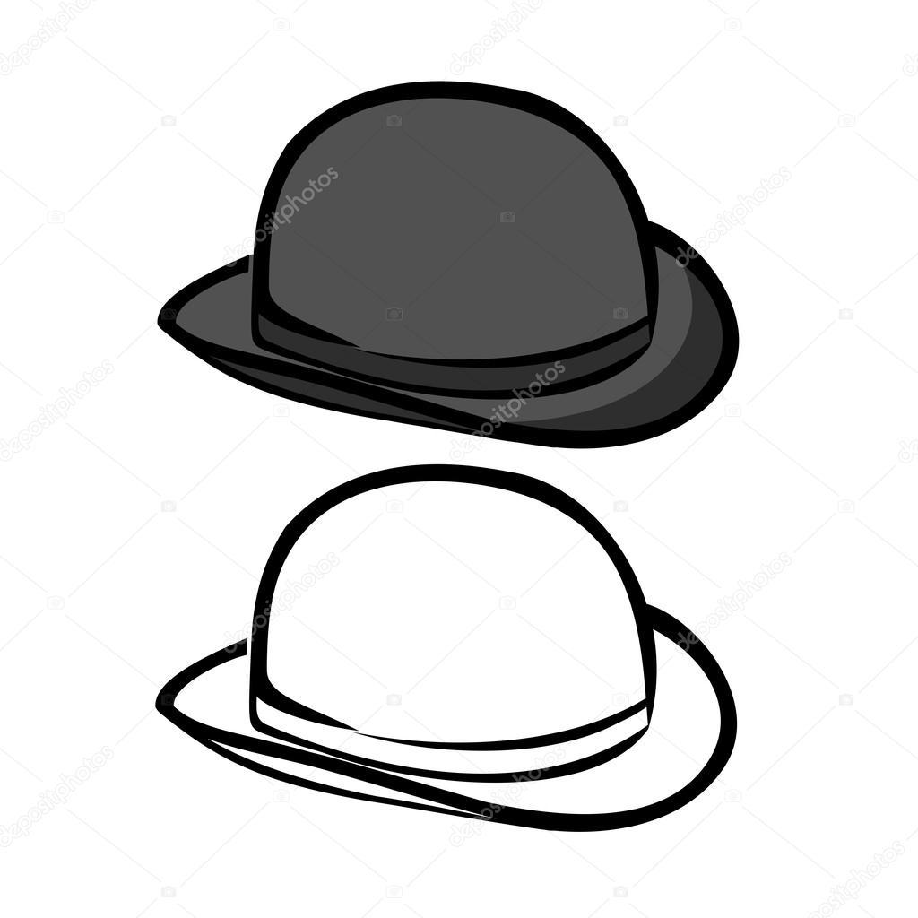 Как нарисовать котелок-шляпу