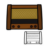 Eski retro radyo — Stok Vektör