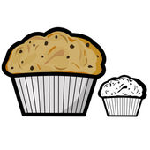 Muffin — Stock Vector