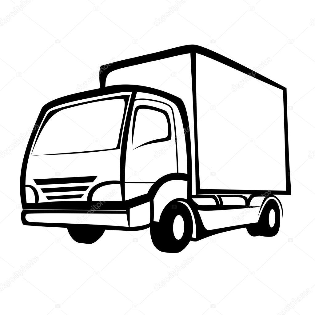 卡车动漫简笔画