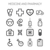 Set of simple medical icons — Stock Vector