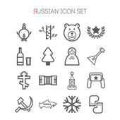 Set of russian icons for web design, sites, applications, games, stickers and info graphics — Stock Vector