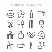 Set of simple icons for beauty, spa, salons, web sites, applications and games — Stock Vector