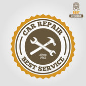 Vintage mechanic labels, emblems and logo. Vector illustration — Stock Vector