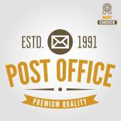 Vintage logo, badge, emblem or logotype elements for post office and other design — Stock Vector