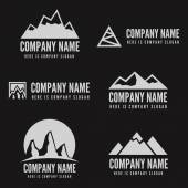 Logo, badge, label, logotype elements with mountains for web, business or other projects — Stock vektor