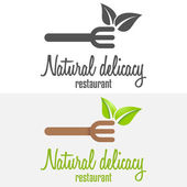 Set of logo and logotype elements for restaurant, cafe or bar — Stock Vector