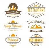 Set of different logo, label, emblem, badge and logotype elements for restaurant, cafe, cafeteria, bar or company — Stock Vector