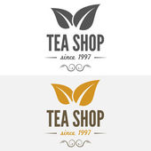 Set of vintage labels, emblems, and logo templates for coffee, tea shop, cafe, cafeteria, bar or restaurant — Stock Vector