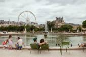 Tuileries garden — Stock Photo