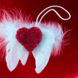 Angel wings heart love toned photo — Stock Photo #64936925