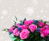 Blurred abstract floral background is a rose toned photo — Stock Photo