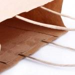 Magazine paper shopping bag isolated on a white background — Stock Photo #77126003