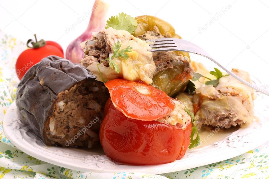 баклажан капуста мясо