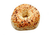Everything Bagel Isolated Over a White Background — Stockfoto
