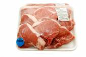 Raw Packaged Organic Packaged Porkchops — Foto Stock
