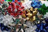 Background of Christmas Bows — Stock fotografie
