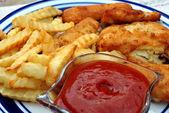 Fried Fish Dinner — Stock Photo