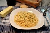Pasta-Essen — Stockfoto