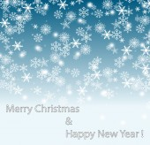 Sky and Snow Background-white merry christmas — Stock Photo