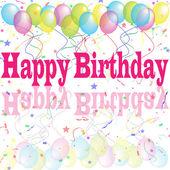 Birthday-Happy Birthday Reflection — Stock Photo