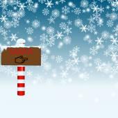 North Pole Santa Sign Over Blue — Stock Photo