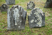 Old and Spooky Grave Stones in a Cemetery — Zdjęcie stockowe