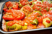 Stuffed Cabbage and Peppers — Stock Photo
