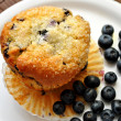 Blueberries with a Fresh Blueberry Muffin — Stock Photo #61630395